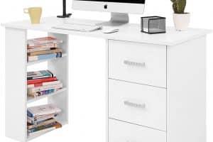 Mesa escritorio con estantes abiertos COMIFORT