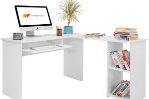 Mesa de escritorio grande en forma de L COMIFORT
