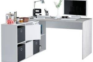 Mesa de escritorio con estanterías en forma de L Adapta XL