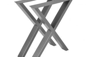 Conjunto de patas en forma de X para escritorios