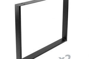 Conjunto de 2 patas en forma de marco para escritorios