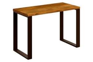Mesa escritorio de madera maciza natural